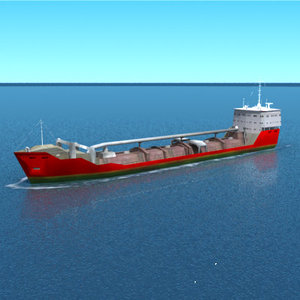 3d model sand cargo tanker ship
