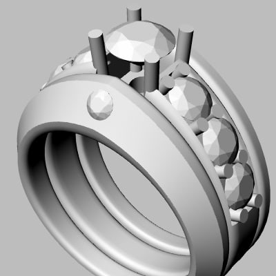 3d wedding band