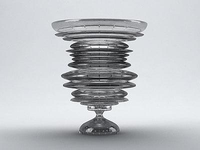 max glazed bubble vase 0