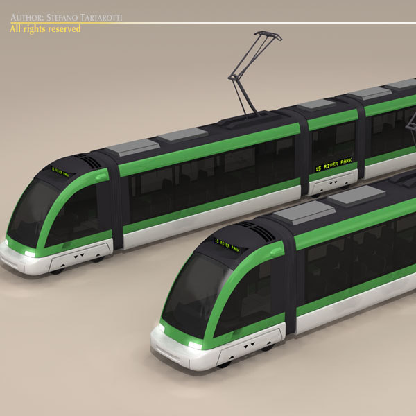 city trams 3d model