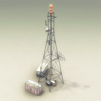 3d communications tower model