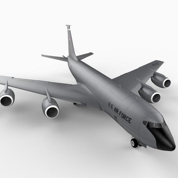 3d kc-135r stratotanker tanker plane model