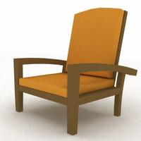 bistro armchair 3d model