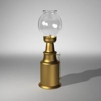 kerosene lamp 3d lwo