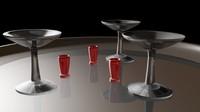3d martini set