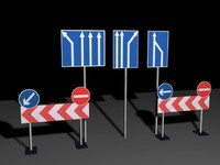 street signs 3d max