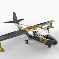 grumman hu-16 albatross aircraft 3d model