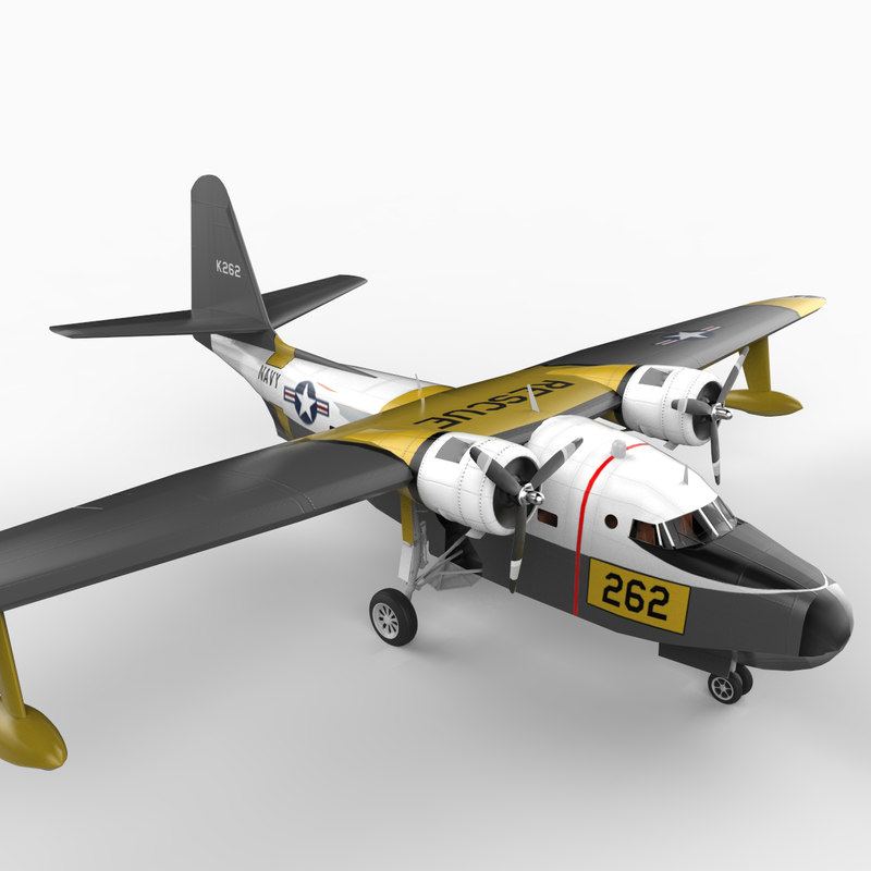 grumman hu-16 albatross aircraft 3d model