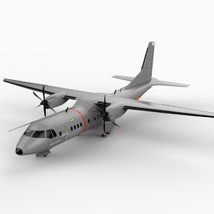 eads casa c-295 military transport 3d model
