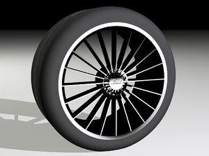 free wheel tyre 3d model