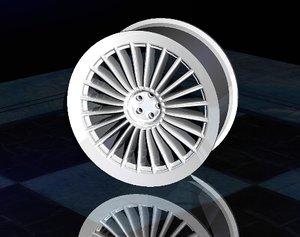 3d model alloy wheel