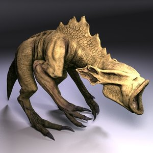 3ds max evil beast fantasy destrachan