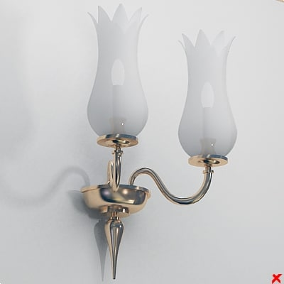 3ds wall lamp