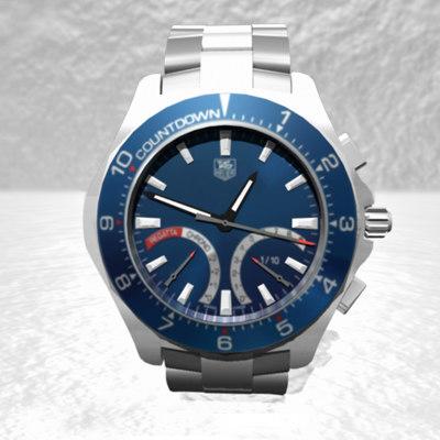 3d wristwatch model
