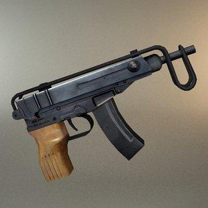 skorpion vz61 gun 3d model