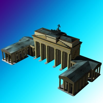 brandenburger gate tor 3d model