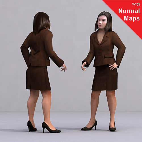axyz 2 human characters 3d 3ds
