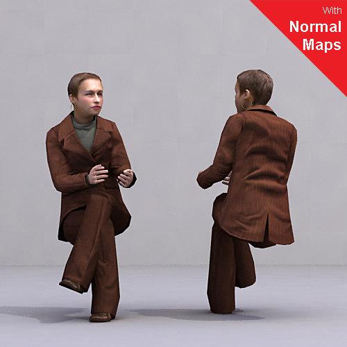 3d axyz human characters