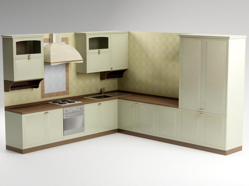 3d model kitchen kantry