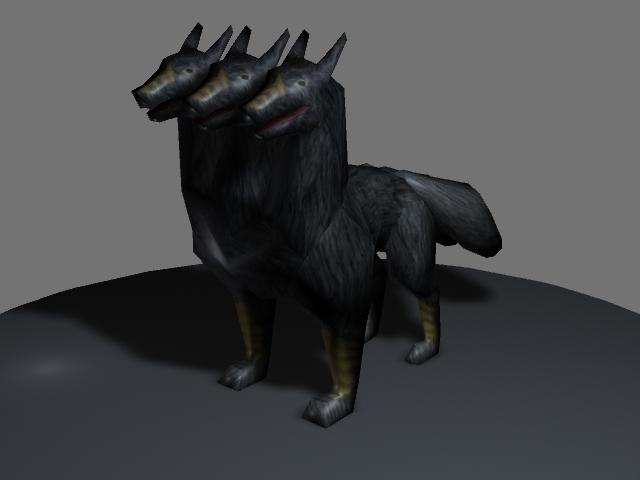 3d mythological cerberus
