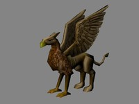 low poly griffon