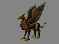 3d griffon creature