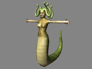 medusa mythological creature 3d model