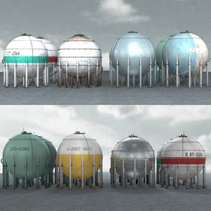industrial factory 04 gas tank 3d 3ds