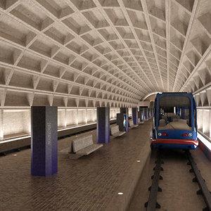 3ds max metro tram station