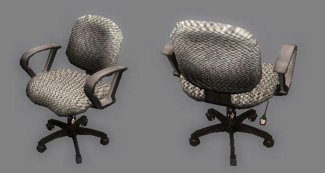 office swivel chair 3d max