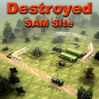 SAM Site Destroyed
