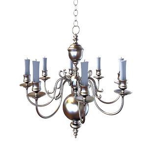 chandelier lighting lamp 3d 3ds