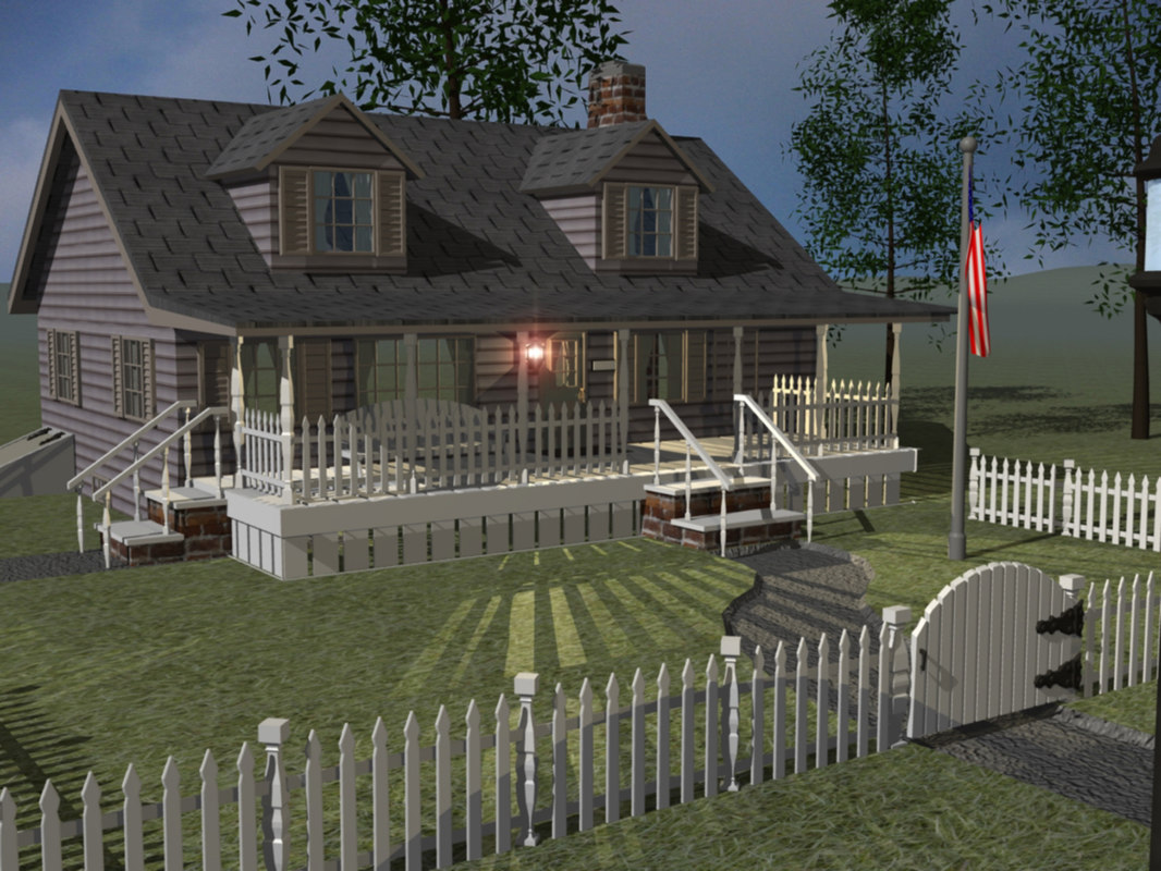 3ds max southern ranch house