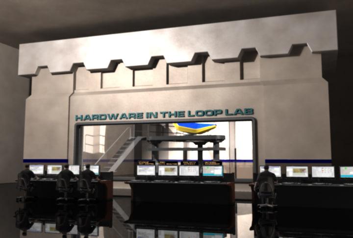 3d model computer flight simulator lab