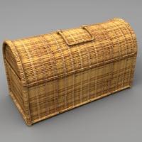 wicker basket 3d model