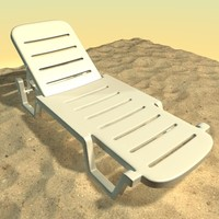 3d model beach couch