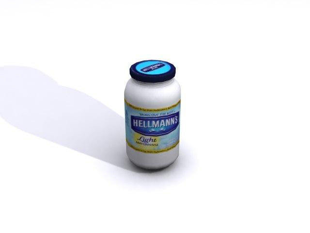 hellmann mayonnaise 3d max