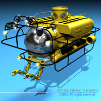 3d model submersible vessel
