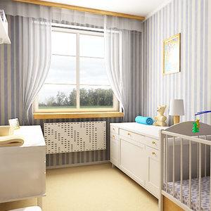 3d model of room baby