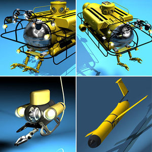 submarine submersible vessel 3d model