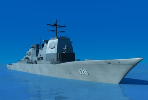 japanese chokai ship 3d model