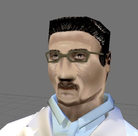 free scientist 3d model