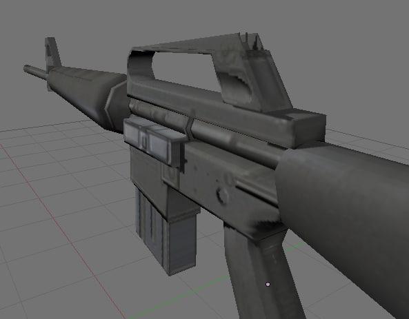 m16 xm16e1 3d model