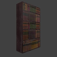 bookcase furniture books 3d model