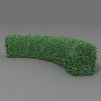 3d model bush garden