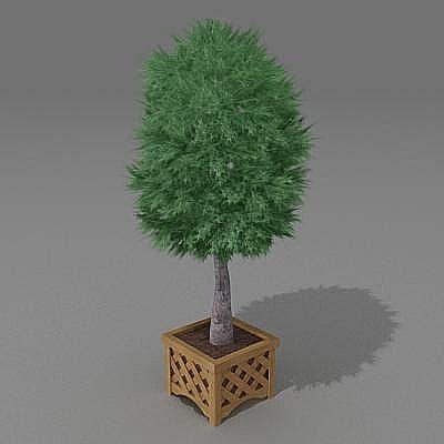 3d bush garden model