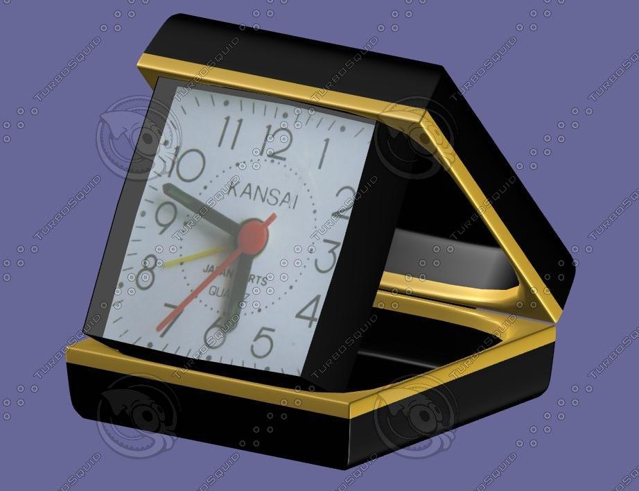 desk alarm clock 3d model