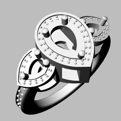 3d model wedding band jewel