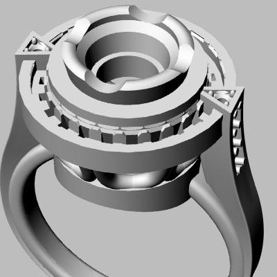 rhino wedding band jewel