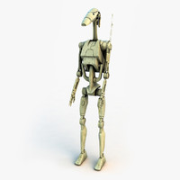 battle droid star wars 3d model